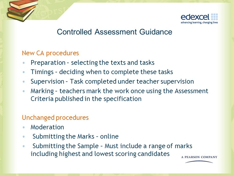 Controlled Assessment Guidance