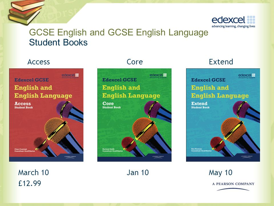 GCSE English and GCSE English Language Student Books