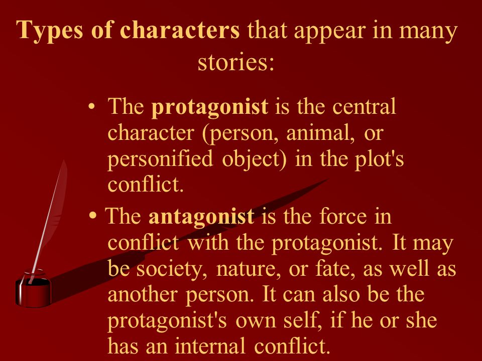 Types of characters that appear in many stories: