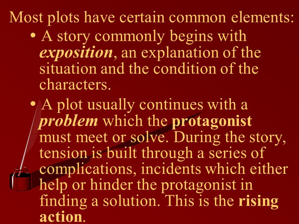 Most plots have certain common elements: