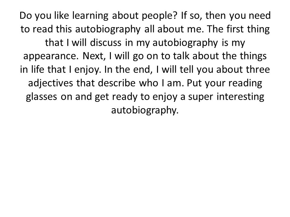Do you like learning about people