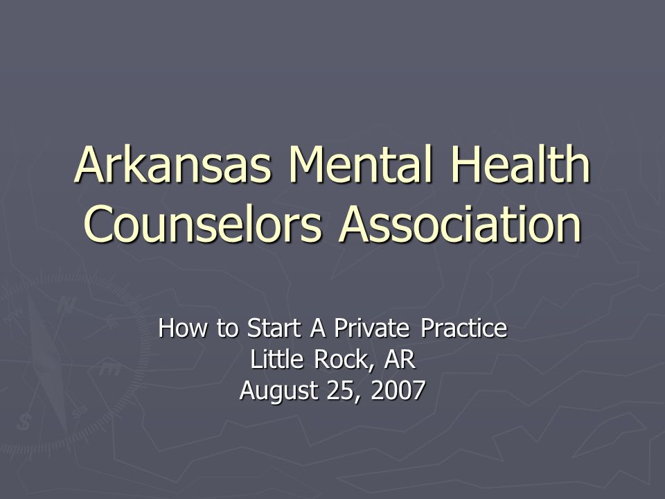 Arkansas Mental Health Counselors Association