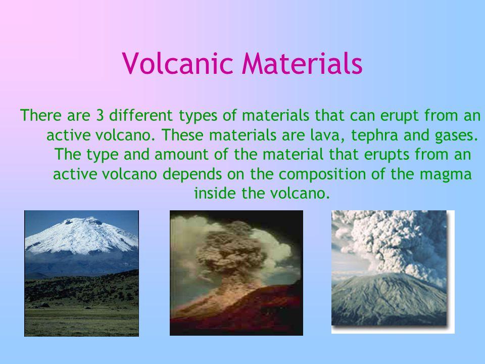 Volcanic Materials
