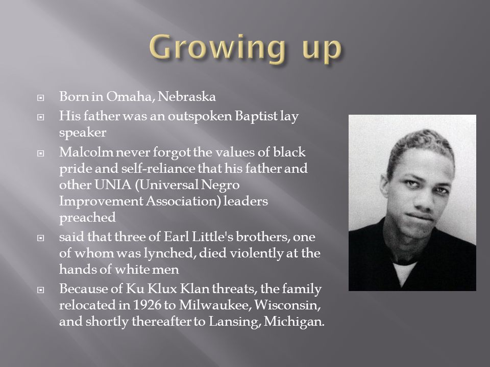 Growing up Born in Omaha, Nebraska