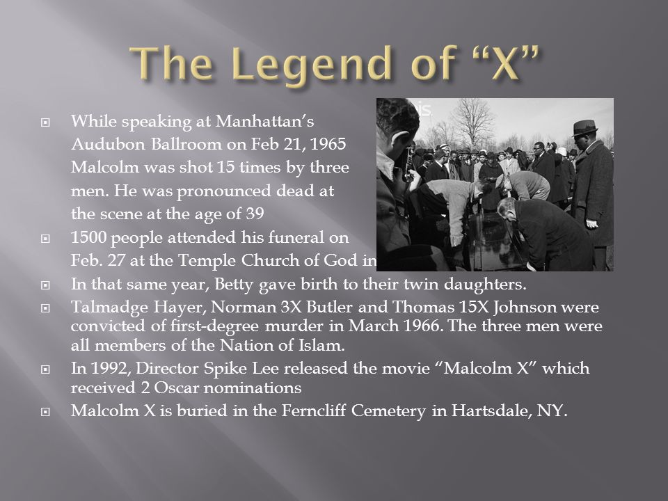 The Legend of X While speaking at Manhattan's