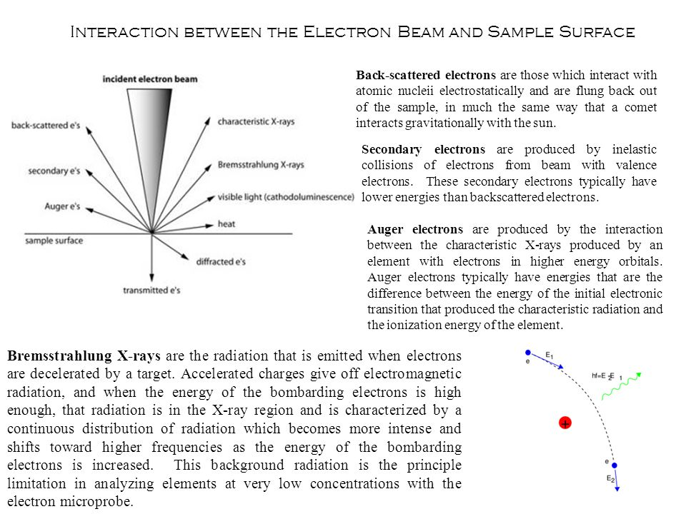 Interaction between the Electron Beam and Sample Surface