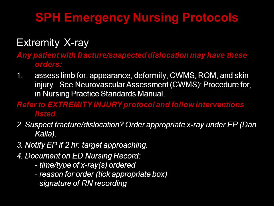 SPH Emergency Nursing Protocols