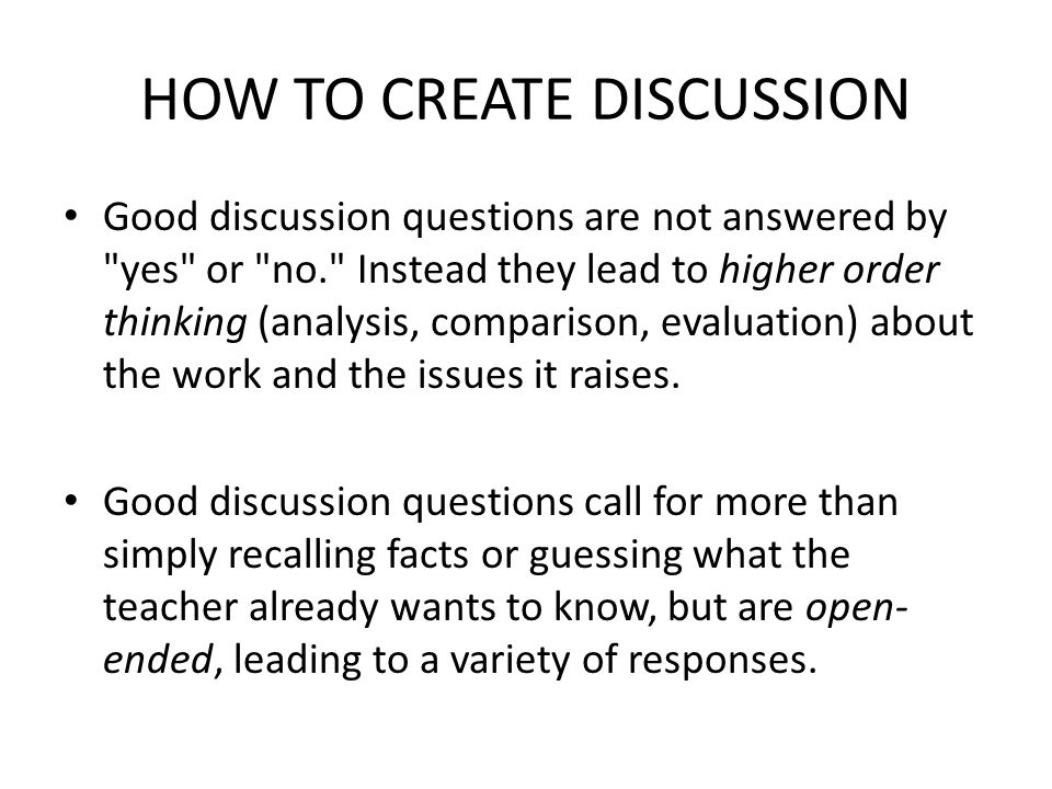 HOW TO CREATE DISCUSSION