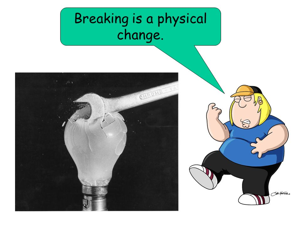 Breaking is a physical change.