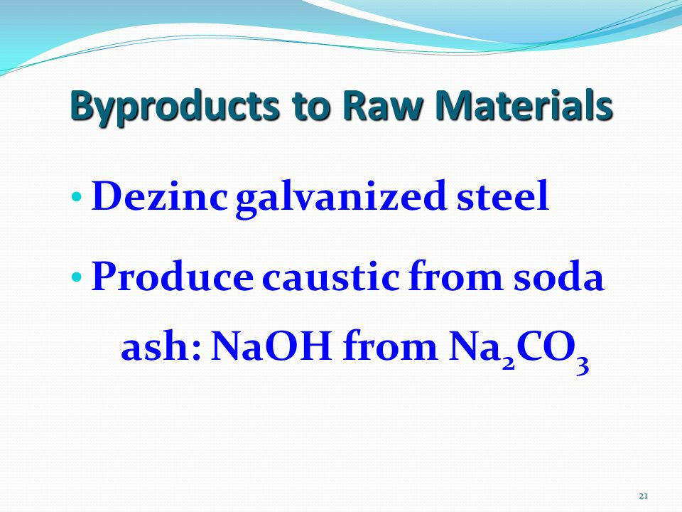 Byproducts to Raw Materials