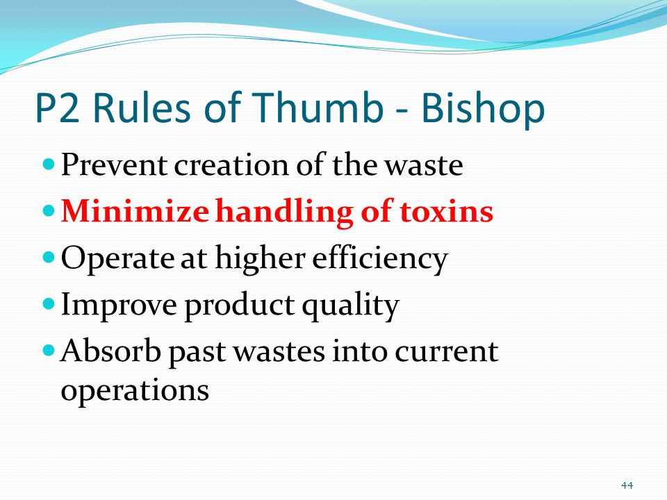 P2 Rules of Thumb - Bishop