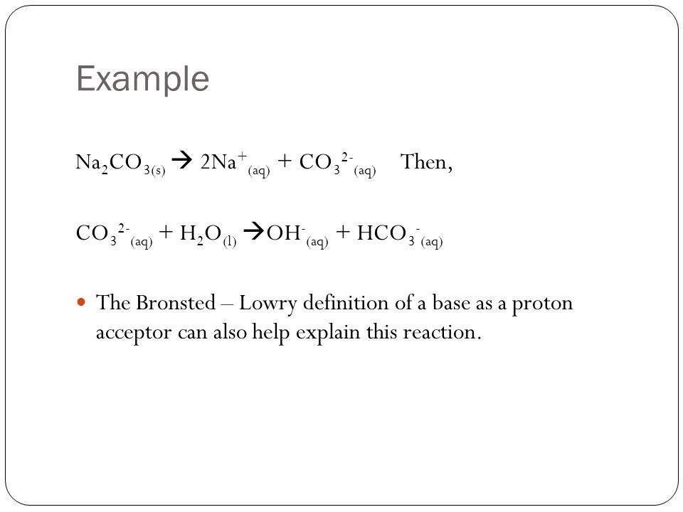 Example Na2CO3(s)  2Na+(aq) + CO32-(aq) Then,