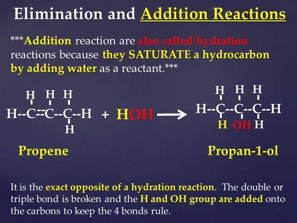 Elimination and Addition Reactions