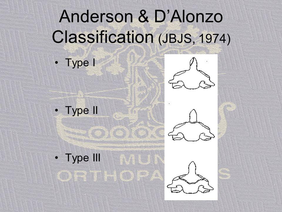 Anderson & D'Alonzo Classification (JBJS, 1974)