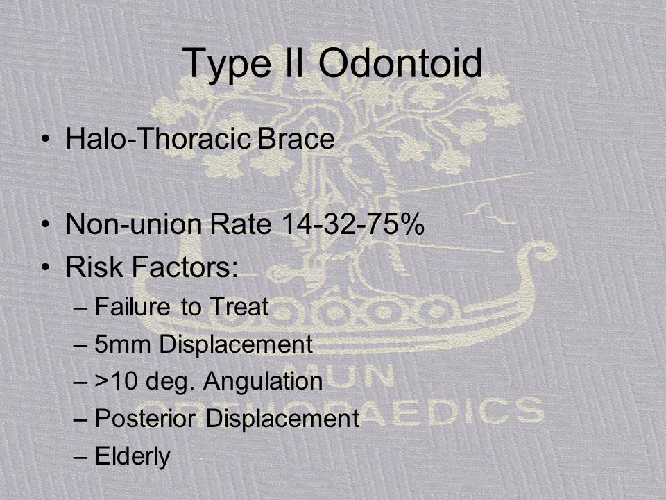 Type II Odontoid Halo-Thoracic Brace Non-union Rate 14-32-75%