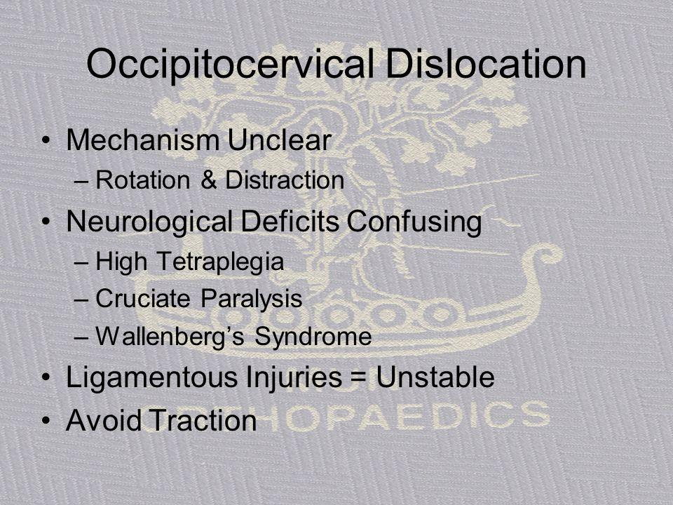 Occipitocervical Dislocation