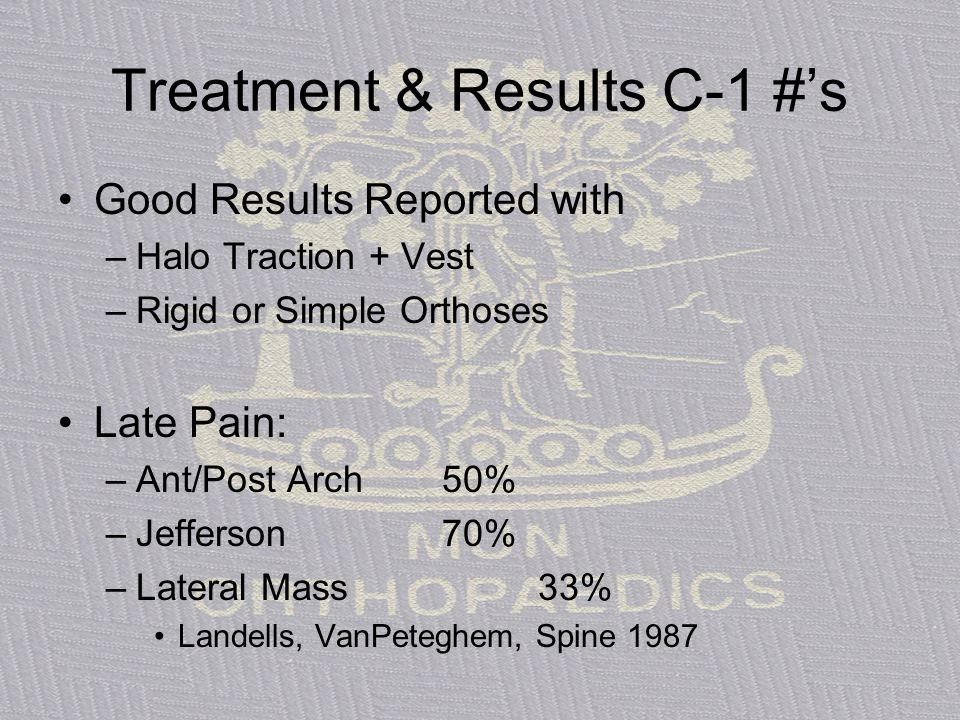 Treatment & Results C-1 #'s