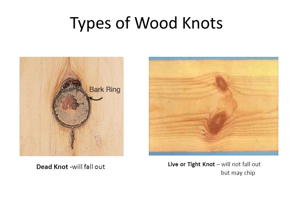 Types of Wood Knots Dead Knot -will fall out