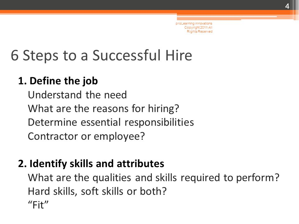 6 Steps to a Successful Hire