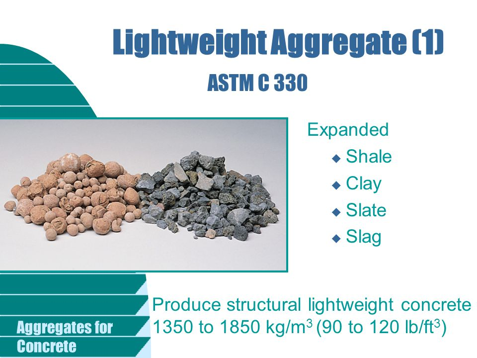 Lightweight Aggregate Concrete : Aggregates for concrete ppt video online download