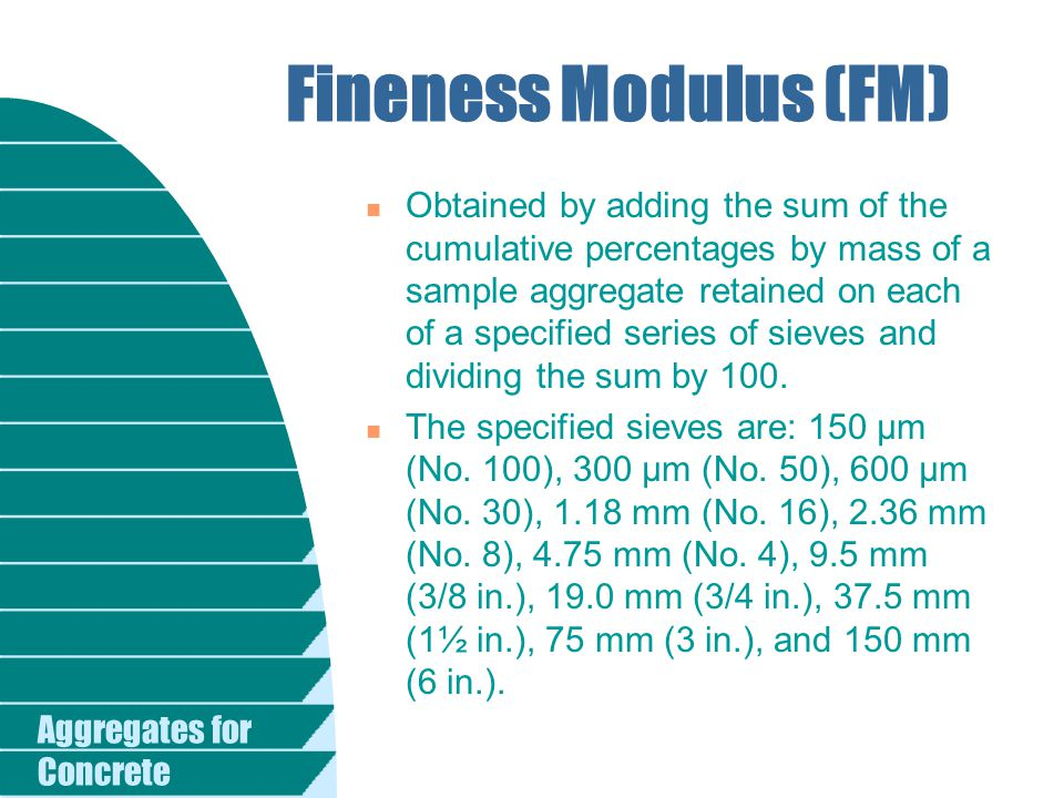 Fineness Modulus (FM)