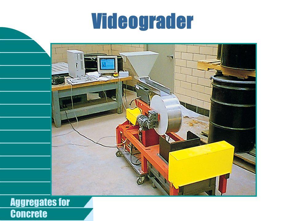 Videograder Fig. 5-11. Videograder for measuring size and shape of aggregate. (69545)