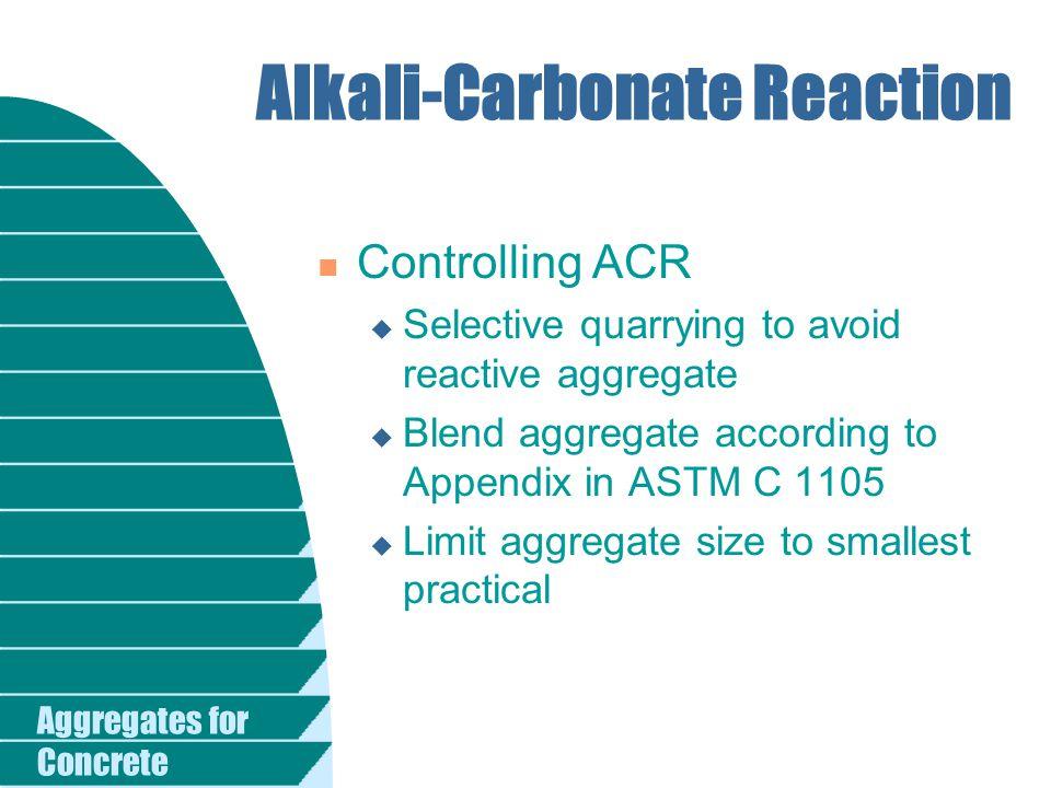 Alkali-Carbonate Reaction