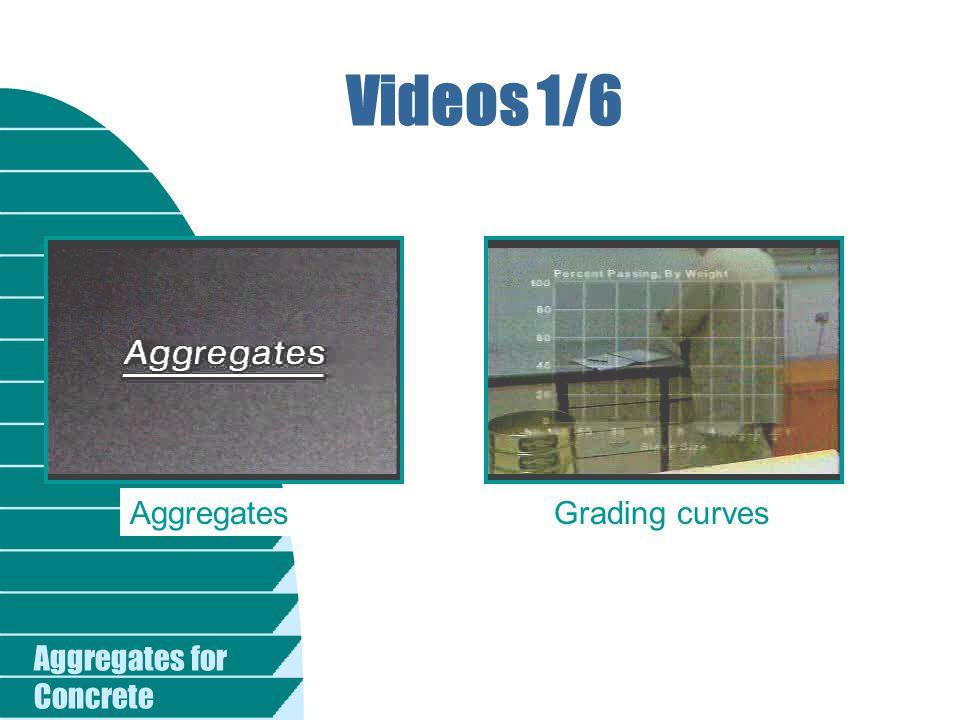 Videos 1/6 Aggregates Grading curves