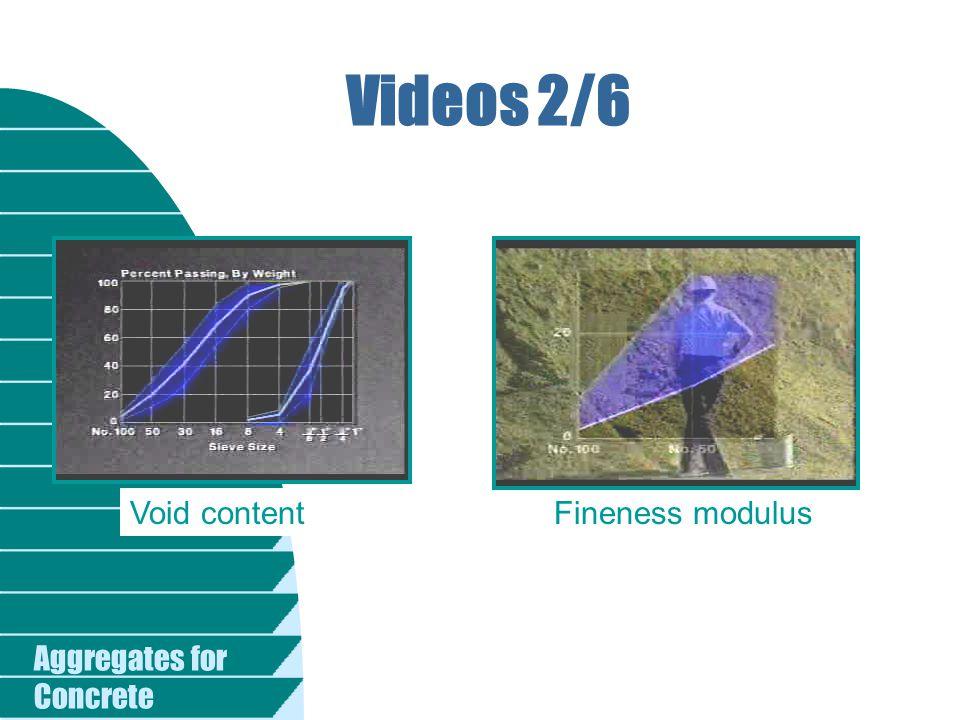 Videos 2/6 Void content Fineness modulus