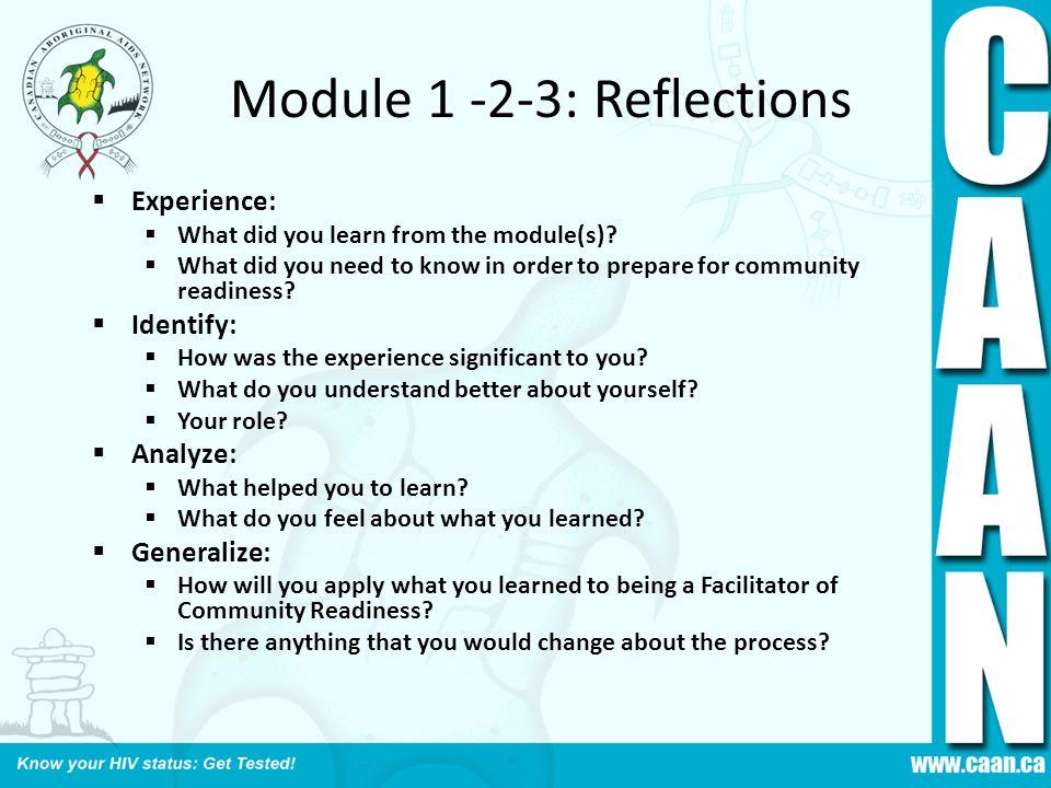 Module 1 -2-3: Reflections