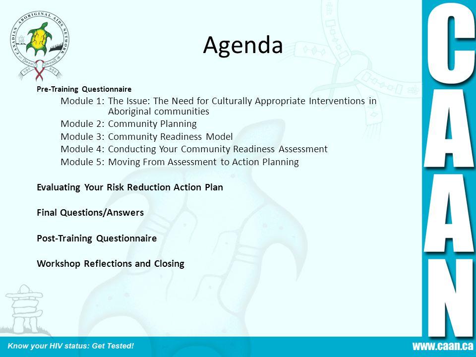 Agenda Module 2: Community Planning