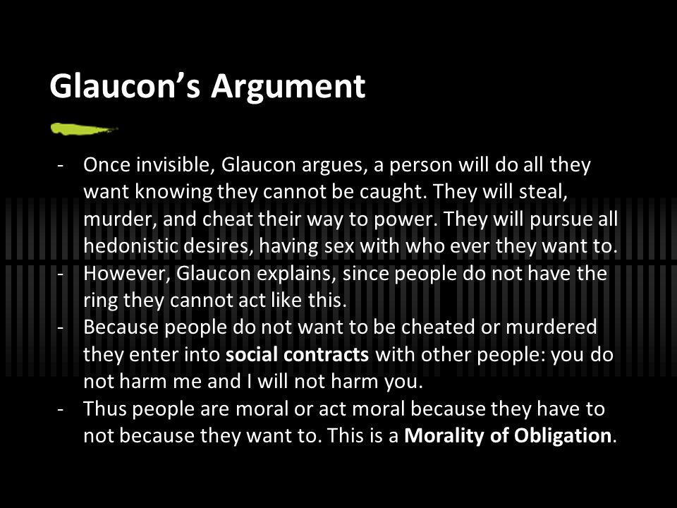Glaucon's Argument