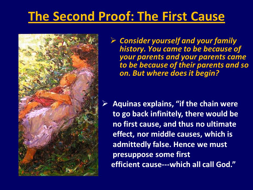 The Second Proof: The First Cause