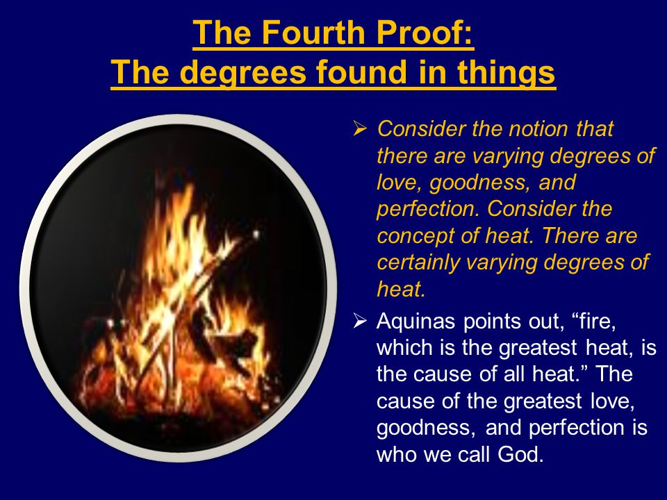The Fourth Proof: The degrees found in things