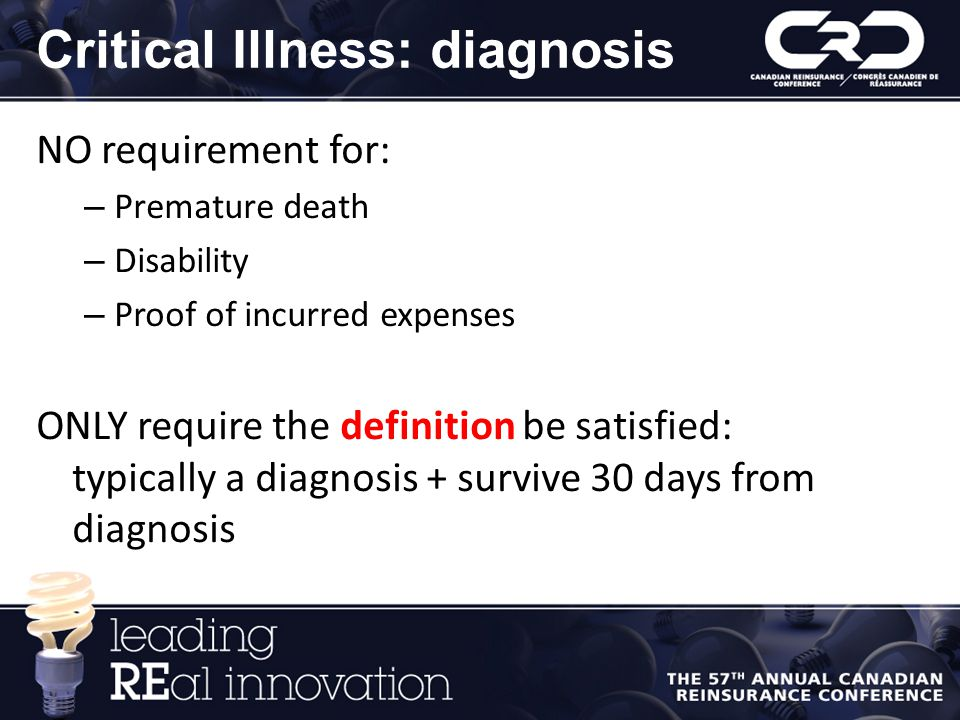 Critical Illness: diagnosis