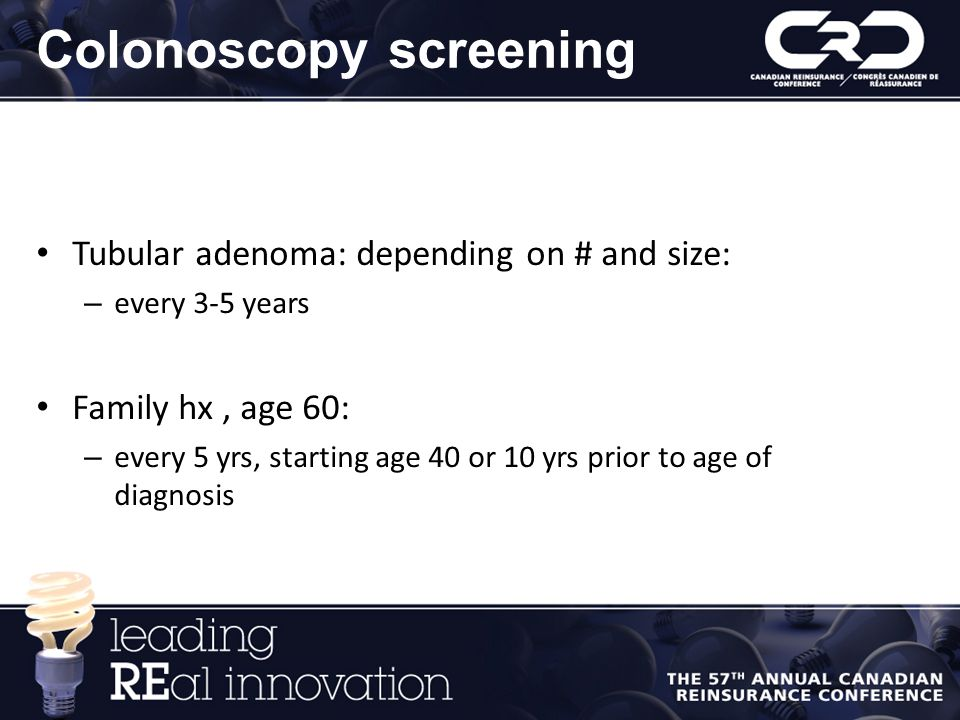 Colonoscopy screening