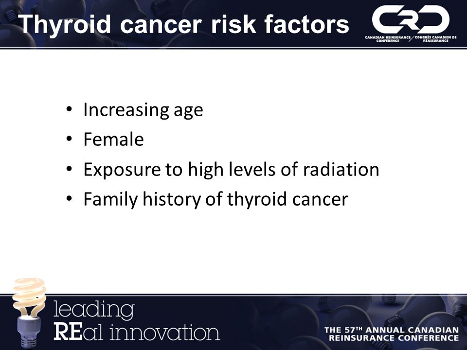 Thyroid cancer risk factors