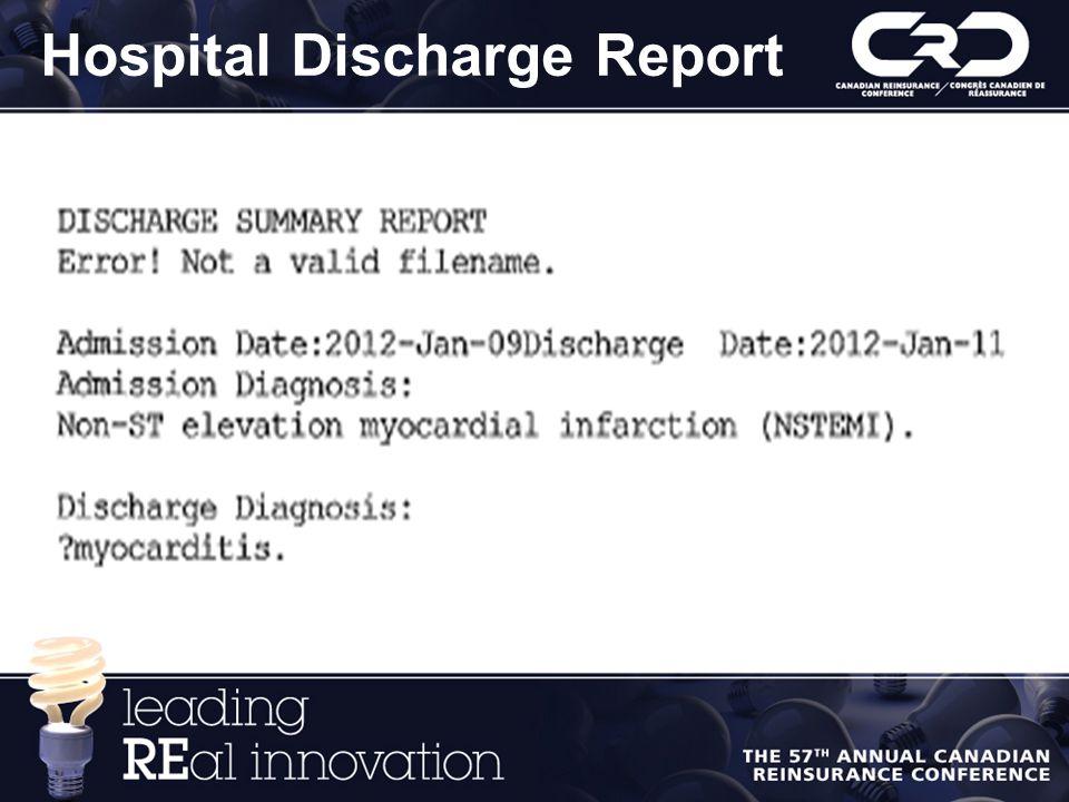 Hospital Discharge Report
