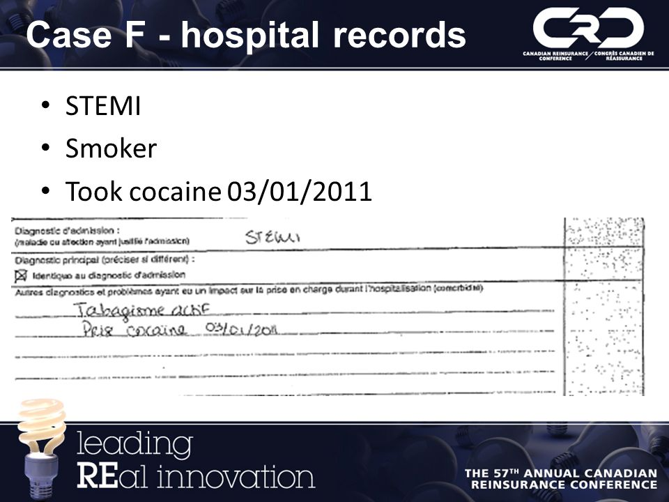 Case F - hospital records