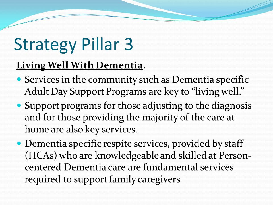 Strategy Pillar 3 Living Well With Dementia.