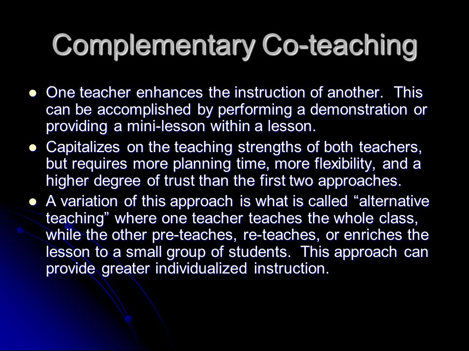 Complementary Co-teaching