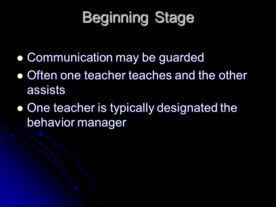 Beginning Stage Communication may be guarded