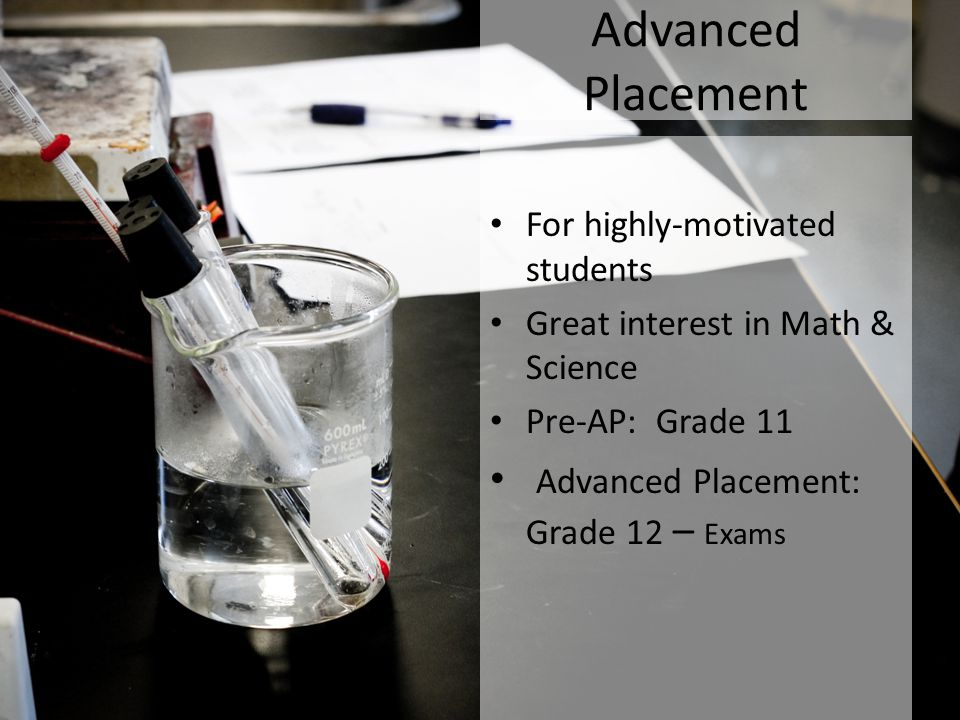 Advanced Placement Advanced Placement: Grade 12 – Exams