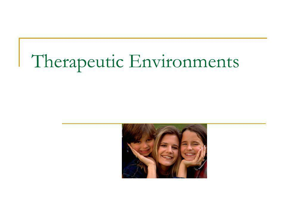 Therapeutic Environments