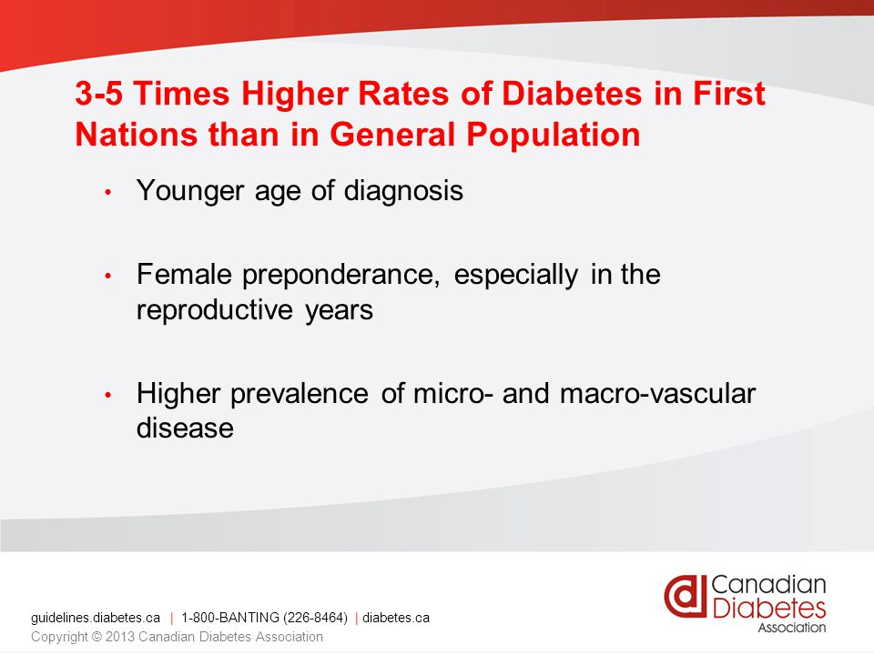 3-5 Times Higher Rates of Diabetes in First Nations than in General Population