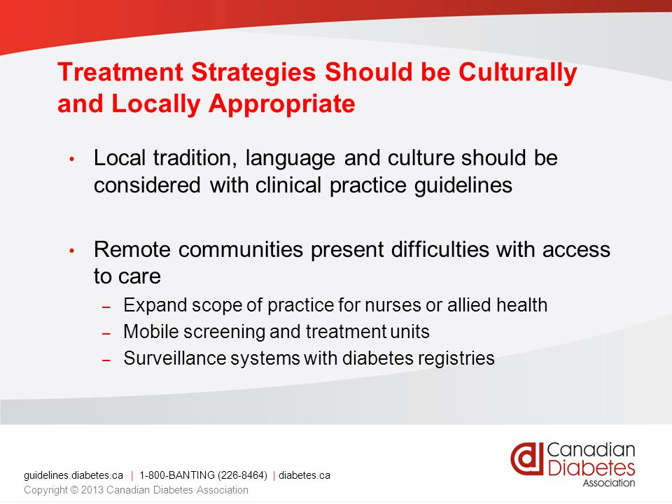 Treatment Strategies Should be Culturally and Locally Appropriate