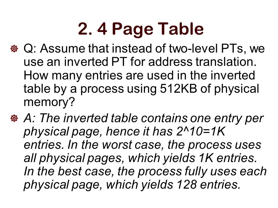2. 4 Page Table