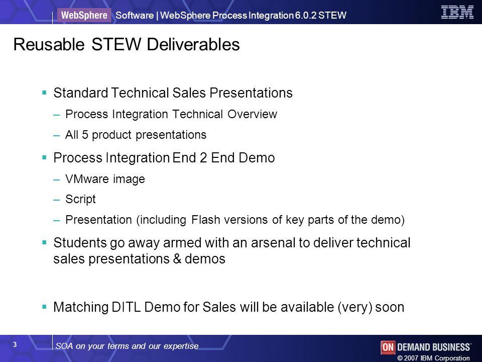 Reusable STEW Deliverables