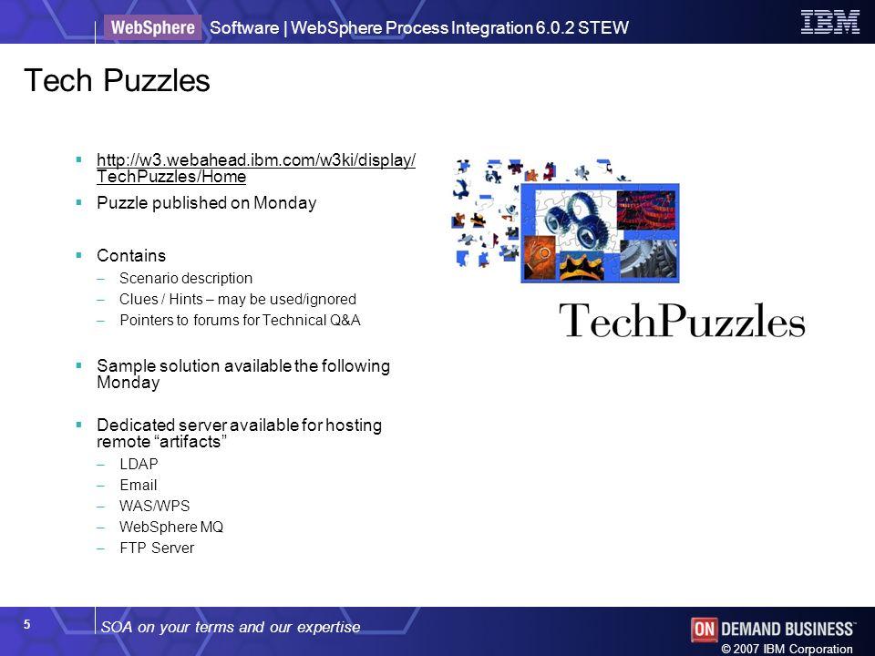 Tech Puzzles http://w3.webahead.ibm.com/w3ki/display/TechPuzzles/Home