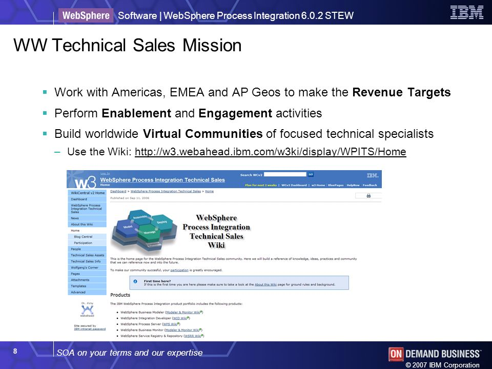 WW Technical Sales Mission